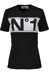 Etre Cecile Printed Cotton Jersey T Shirt Black