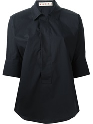 Marni Three Quarter Length Sleeve Shirt Blue