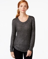 Calvin Klein Jeans Knit Scoop Neck Sweater Black Combo