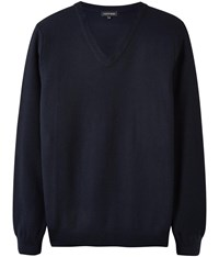 Austin Reed Micro Knit V Neck Jumper Navy