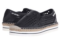 Love Moschino Mesh Espadrille Black Women's Slip On Shoes