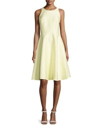Kate Spade Double Bow Back Sateen Dress Lemon Souffle