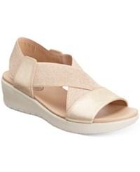 Easy Spirit Wiley Wedge Sandals Women's Shoes Gold