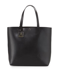 Kelsi Dagger Commuter Leather Tote Bag Black
