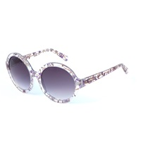 Heidi London Forget Me Not Circular Sunglasses Pink Purple