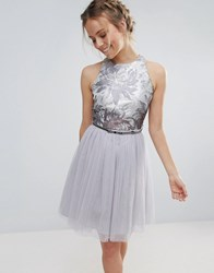 Little Mistress Tulle Belted Prom Dress Repeat Blue