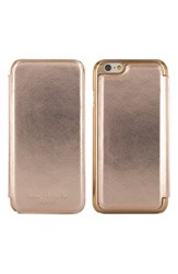 Ted Baker London 'Shannon' Iphone 6 And 6S Folio Case Metallic Rose Gold