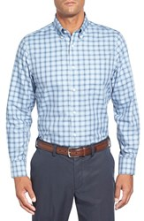 Men's Big And Tall Nordstrom Smartcare Regular Fit Plaid Sport Shirt Blue Forever Navy Plaid