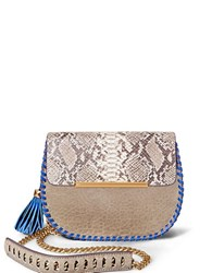 Brian Atwood Grace Leather Crossbody Taupe