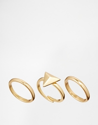 Pilgrim Adjustable Ring Set Goldplated