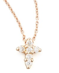 Rose Gold Diamond Cross Necklace Roberto Coin