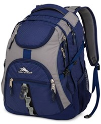 High Sierra Access Backpack In Navy And Charcoal Navy Charcoal