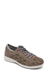 Rockport Women's Truflex Perforated Sneaker Stone Leather