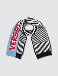 Versace Striped Logo Knitted Scarf Multicolor
