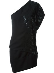 Jay Ahr Asymmetric Dress Black