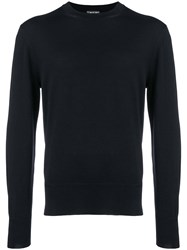Tom Ford Crew Neck Sweater Blue