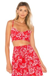 Tiare Hawaii Monarch Crop Top Red