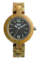 Wewood 'Mimosa' Wood Bracelet Watch 29Mm Army