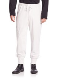 Y 3 Grain Jersey Sweatpants White