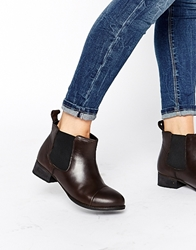 Ravel Chelsea Leather Ankle Boots Blackwaxyleather