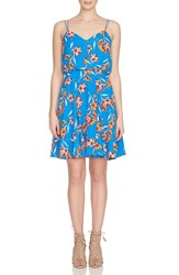 Cynthia Steffe Women's Cece Floral Fit And Flare Dress Blue Lotus