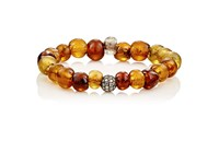 Devon Page Mccleary Women's White Diamond And African Glass Beaded Bracelet No Color