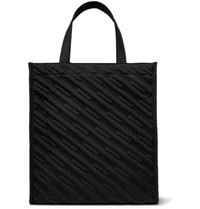 Balenciaga Quilted Embroidered Canvas Tote Black