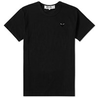Comme Des Garcons Play Women's Basic Logo Tee Black
