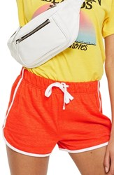 Topshop Nep Runner Shorts Red