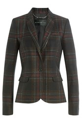 Barbara Bui Checked Wool Blend Blazer Multicolor