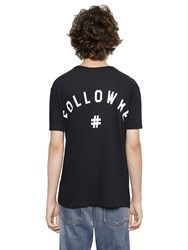 Ports 1961 Printed Back Cotton Blend Jersey T Shirt