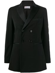 Red Valentino Double Breasted Tuxedo Blazer Black