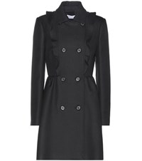 Red Valentino Cotton Coat Black