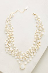 Anthropologie Celestia Layered Necklace White