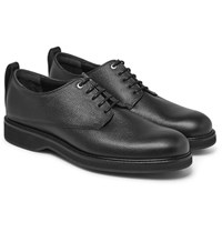 Want Les Essentiels Montoro Pebble Grain Leather Derby Shoes Black