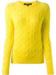 Ralph Lauren Black Label Ralph Lauren Black Cable Knit Sweater Yellow And Orange
