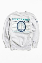 Urban Outfitters Vintage Champion Long Beach Island Crew Neck Sweatshirt Grey