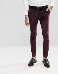 Rudie Slim Fit Velvet Tuxedo Trousers Red