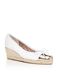 da7ade69bd3 Paul Mayer Women s Just Quilted Leather Espadrille Wedge Pumps White