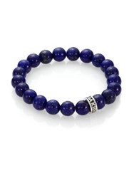 King Baby Studio Lapis Beaded Bracelet Purple