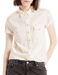 Levi's Baby Patch White Cotton Shirt