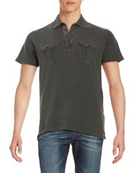 Lucky Brand Solid Polo Black