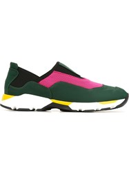 Marni Contrasted Panel Sneakers Multicolour