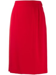 Moschino Vintage 2000 Pencil Skirt Red