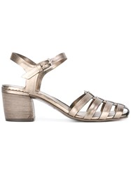 Roberto Del Carlo Closed Toe Sandals Metallic