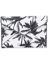 Rebecca Minkoff Palm Tree Clutch Bag Women Leather One Size Black