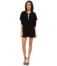 Norma Kamali Rectangle Jumpshorts Black Women's Jumpsuit And Rompers One Piece