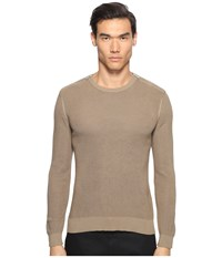 The Kooples Cotton Pearl Stitch Sweater Camel