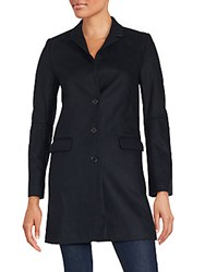 Zadig And Voltaire Mezzo Wool Blend Coat Black