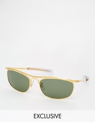 Reclaimed Vintage Clubmaster Sunglasses Gold